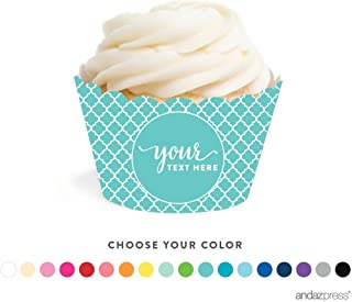 personalised cupcake wrappers