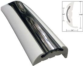 Taco Marine Standard V11-9811WCM70-2 Rigid Vinyl Rub Rail Kit-1-5/8 x 3/4 x 70', Frosty White