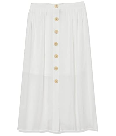 Amy Byer Button Front Midi Skirt