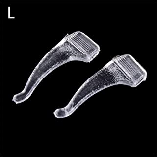 Crochets d'oreille antidérapants 10 paires antidérapant lunettes lunettes lunettes de lunettes de silicone de silicone tra...
