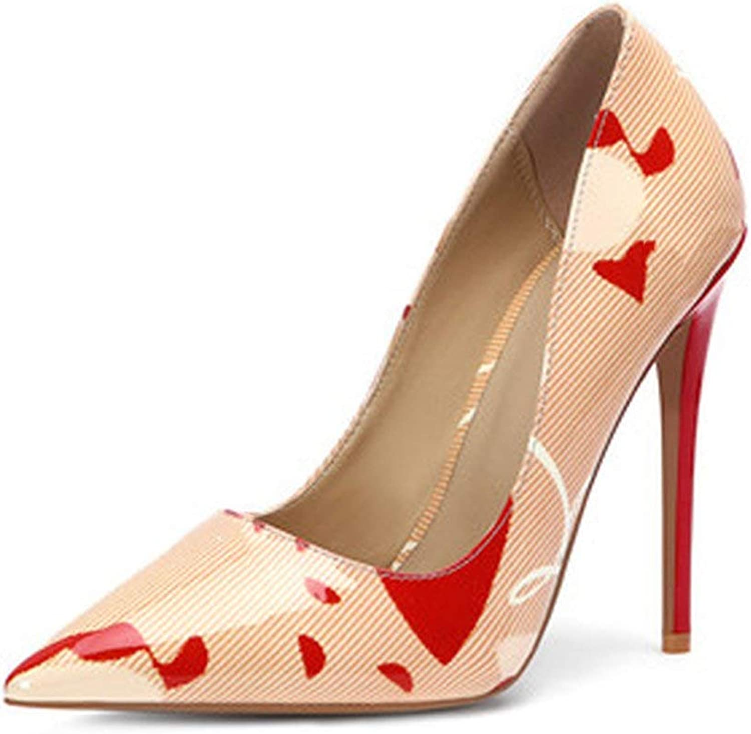 MiniYoo Sexy Lady Pumps Patent Leather Red High Heels Pointed Toe Sandals Luxury Womens shoes
