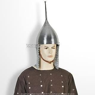 Medieval Gears Brand Functional Medieval Russian Tsar Helmet 16 Gauge Steel w/Chainmail SCA LARP WMA