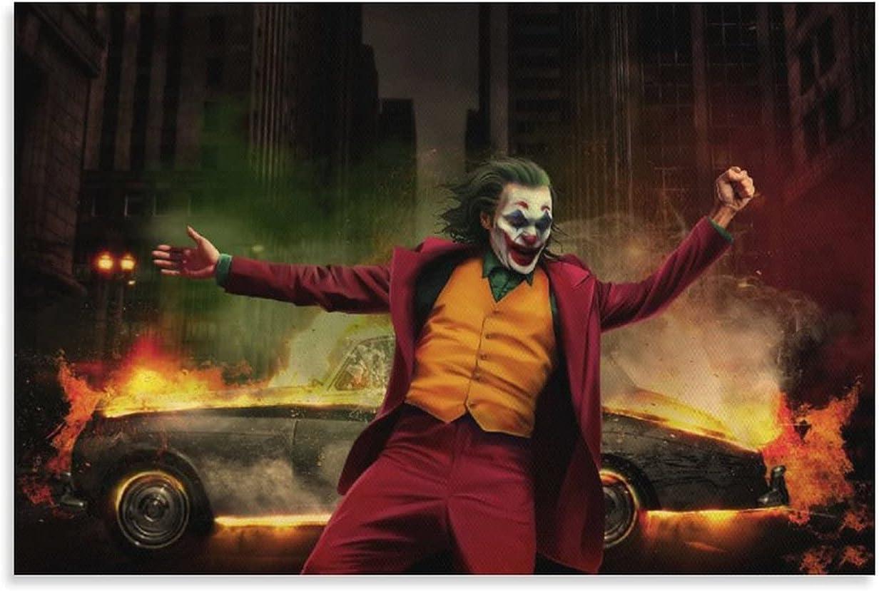 SOCKLOCKPA Joker Dance Save money Classic Crime Canvas Product Movie Poster Paintin