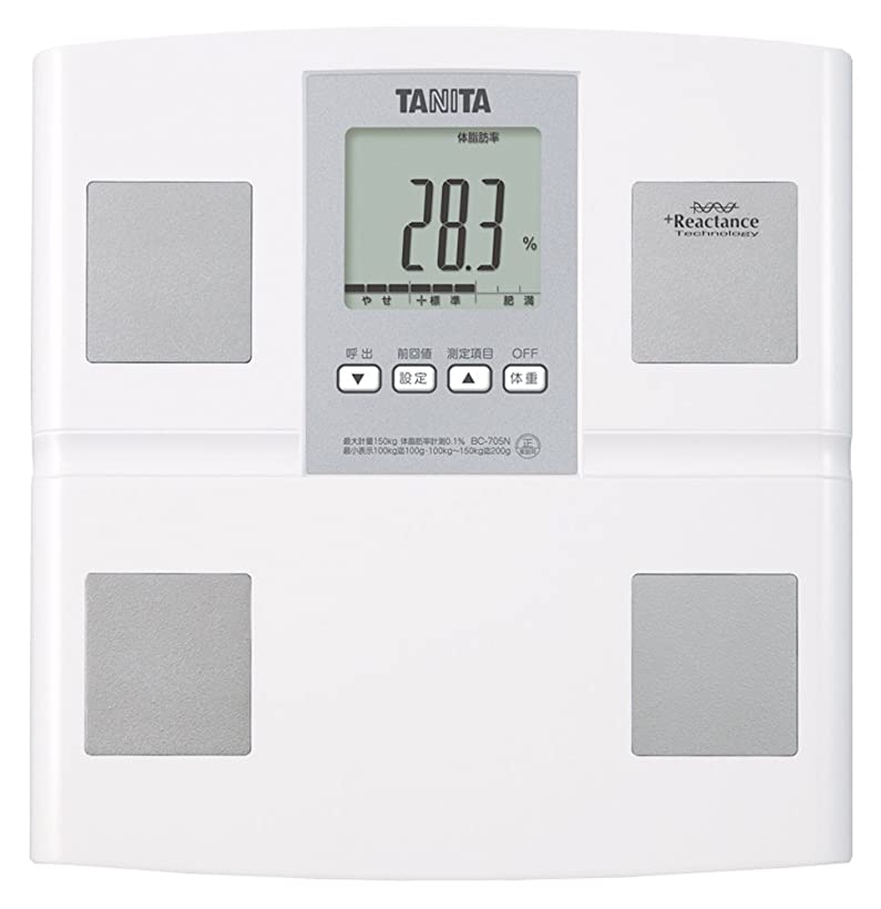 スタッフ認証咳タニタ 体重 体組成計 日本製 BC-705N WH 自動認識機能付き/測定者をピタリと当てる