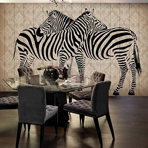 Wall Complete Free Shipping Murals,3D Wallpaper Stereo Zebra 5 ☆ popular Simple Fashion Ro Living