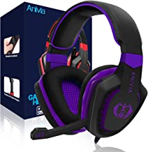 Anivia AH28 Gaming Headset Noise Isolating Over Ear Headphones with Mic, Volume Control,..