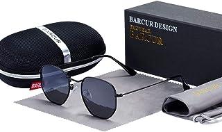 899f7c03876 Classic Retro Reflective Sunglasses Man Hexagon Sunglasses Metal Frame  Eyewear Sun Glasses With Box Oculos De