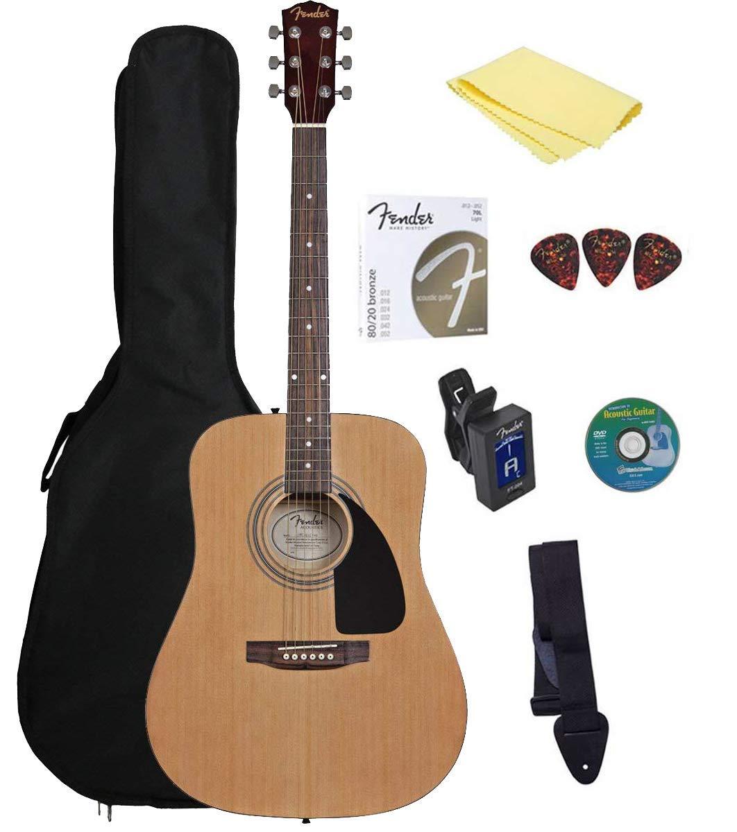 Fender Starter Pack de guitarra acústica: Amazon.es: Instrumentos musicales