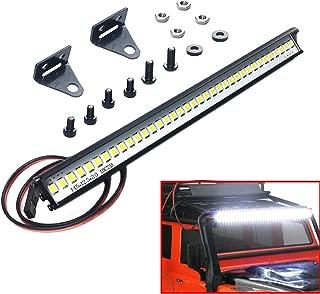 ShareGoo Super Bright 36 LED Light Bar Metal Roof Lamp Lights for Traxxas TRX4 90046 D90 Axial SCX10 1/10 RC Rock Crawler Climbing Car Truck,150mm/5.9
