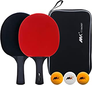 SHXH Table Tennis Racket,Ping Pong Paddle Set,Training Racquet Kit,with Portable Cover Case Bag