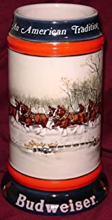 1990 Budweiser Holiday Beer Stein - An American Tradition