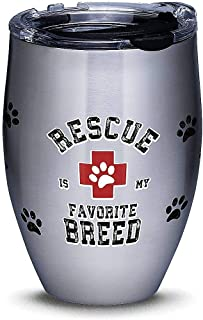Tervis 1298878 Rescue Favorite Breed Stainless Steel Insulated Tumbler with Clear and Black Hammer Lid, 12oz, Silver