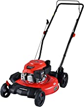 PowerSmart Lawn Mower, 21-inch & 170CC, Gas Powered Push Lawn Mower with 4-Stroke Engine, 2-in-1 Gas Mower in Color Red/Bl...