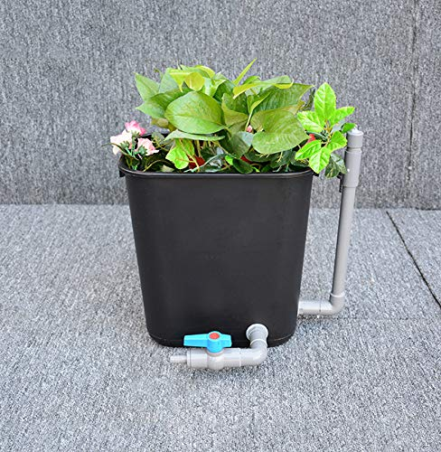 YDYG DIY Trash Can Filter Box,Volcanic Stone Filtration System, Eco Hydroponic Fish Pond Filter Kit,Koi Pond Fish Tank Emergent Plants Box,Trash Bin,m
