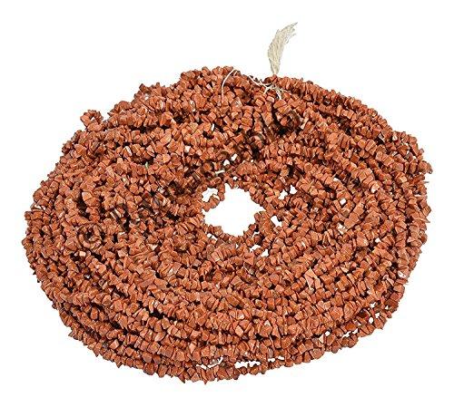 Ratnagarbha solsten ädelsten klimpar chips lösa pärlor tråd, 86 cm längd, gyllene färg, smyckestillverkning, grossistpris. e Basmetall, colore: Guld, cod. PKCHIPS-50-01