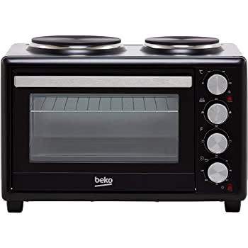Beko Msh28b Mini Oven And Hob 18 8 Stainless Steel