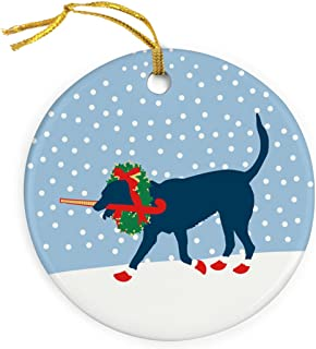 ChalkTalkSPORTS Fabo The Field Hockey Dog Christmas Ornament | Field Hockey Porcelain Ornaments