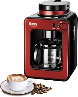 comprar comparacion TM Electron TMPCF020R Mini cafetera de Goteo con Molinillo Grano, 4 Tazas, 600W y Filtro Lavable Compatible con café molid...