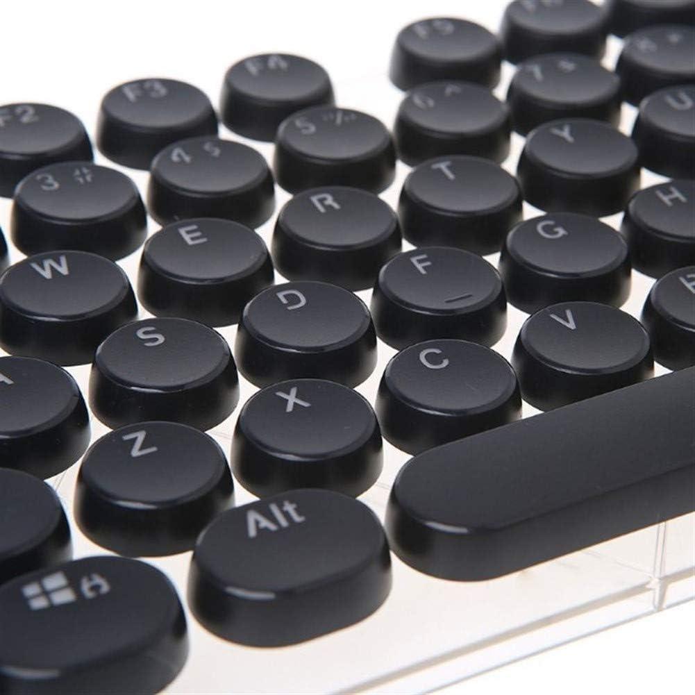 Keyboard keycaps 104 Keys Round Keycaps Double Shot Keycaps for Backlit Mechanical Keyboard Key Cap Color : Blue