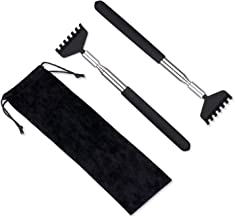 2 Pack Portable Extendable Back Scratcher, Metal Stainless Steel Telescoping Back..