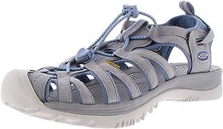 KEEN Women's Whisper Sandal, blue shadow/alloy, 8.5 M US