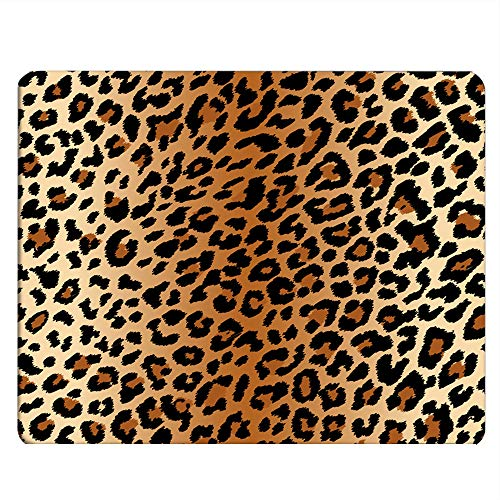 Nicokee Leopard Skin Gaming Mousepad Leopard Pattern Skin Effect Mouse Pad Mouse Mat for Computer Desk Laptop Office 9.5 X 7.9 Inch Non-Slip Rubber