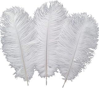 comprar comparacion 10 plumas de avestruz Sowder de 30a35cm para la decoración de bodas en casa