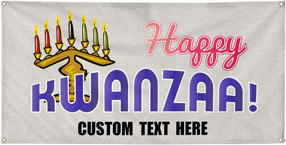 Custom Vinyl Banner Challenge the lowest Max 85% OFF price Multiple Sizes Kwanzaa Advertising Happy #2