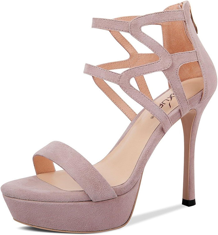 DFUCF Women High Heels Sexy Party Wedding Pumps Nightclub Sandals Open Toe