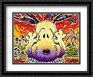 Nobody Barks in L.A. 2X Matted 40x28 Large Black Ornate Framed Art Print by Tom Everhart