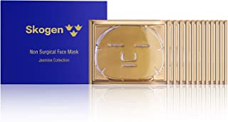 Skogen Premium Non Surgical Face Mask Jasmine Collection Anti-Aging Facial Care for Fines Lines & Wrinkles, Instant Hydrating Hyaluronic Acid, Reduces Redness & Brightens Skin Tone (12 Masks)