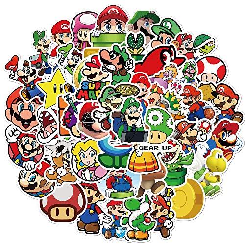 Adesivi anime 200 pz/lotto Super Mario Anime Gioco Cartoon Adesivi FAI DA TE Bike Viaggio Bagagli Telefono Chitarra Portatile Impermeabile PVC Classico Giocattolo Adesivi