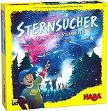 HABA 305154 - Sternsucher, Spiel für Kinder ab 6 Jahren mit atmosphärischem Spielaufbau und Neon-Sternen, Würfel und Spielfiguren aus Holz, zwei Spielvarianten