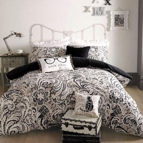 Dove Mill Bedding Myleene Klass Pandia Parure de Couette Noir - Double