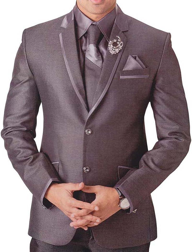 INMONARCH Mens Gray 6 pc Tuxedo Suit Classic Look TX747