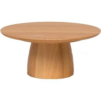 スワンソン商事 ケーキスタンド 木製 M ライトブラウン 約直径21.5×高さ9cm フーテッドプレート アフタヌーンティー パーティー TW-003