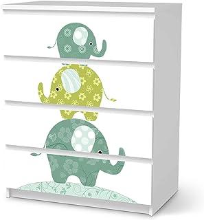 Blooming Tree 2 Schubladen I Tolle M/öbelaufkleber f/ür Kinder-Zimmer Deko I Design creatisto M/öbelfolie selbstklebend f/ür Kinder passend f/ür IKEA Stuva Kommode
