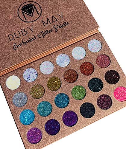 Ruby May Cosmetics Enchanted Glitter Palette 24 Color Glitter