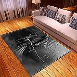 XuJinzisa Halloween Teschio Super Morbido Flanella Tappeto Antiscivolo Stampa 3D Soggiorno Camera da Letto Tappeto Decorazione della Casa Cuscino W6732 180X260 Cm