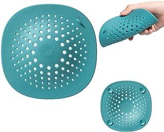 [3 Pack] Buluby Drain hair Catcher, Shower Drain Hair Trap Kitchen Bathroom Sink Strainer Anti Clogging Silicone Strap Basket Stop Removel Tool Accessories for Bathtub/Tub/Tubshroom