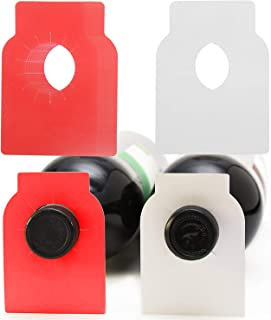 200 Count Wine Bottle Tags Wine Cellar Labels for Wine Racks and Cellars (Red(White), PVC)