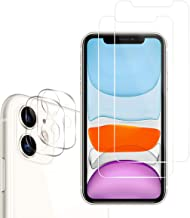 iPhone 11 HD Clear Tempered Glass Screen Protector + Camera Lens Protectors by YEYEBF, [2+2 Pack] [Case-Friendly] [Anti-Sc...
