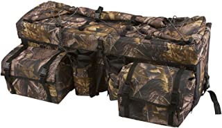 Rage Powersports Camouflage ATV Cargo Rear Rack Gear Bag with Topside Bungee Tie-Down Storage