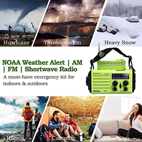 PPLEE Emergency Crank Solar Weather Alert Radio