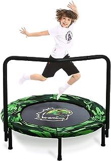 Wamkos 2020 Upgraded Dinosaur Mini Trampoline for Kids with Handle,Foldable Kids..