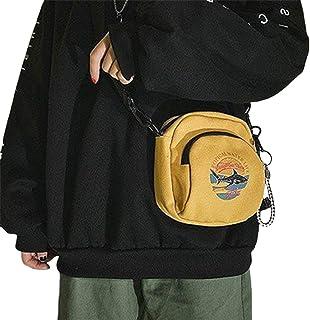 Cute Canvas Shoulder Bag Wild Version Female Casual Women Panelled Messenger Bag Pleated Ladies Canvas Bag