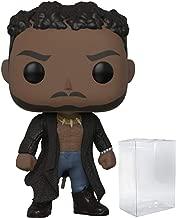 Funko Pop! Marvel: Black Panther - Erik Killmonger with Scar Vinyl Figure (Bundled with Pop Box Protector Case)