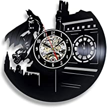 Vinyl Wall Clock/Batman Fan Vinyl Record Wall Clock