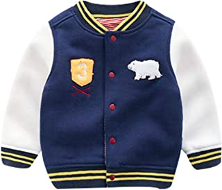 Famuka Baby Boy Spring Coat Little Kids Baseball Cardigan Jacket