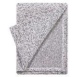 Trend Lab Receiving Soft Deluxe Sweatshirt Knit Baby Blanket, Heather Gray